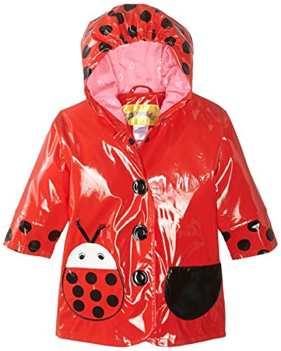 Kidorable Little Girls' Ladybug All Weather Waterproof Coat, Red, Size 2T