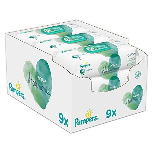 Pampers Aqua Pure Feuchttücher 9Packungen, 432Feuchttücher