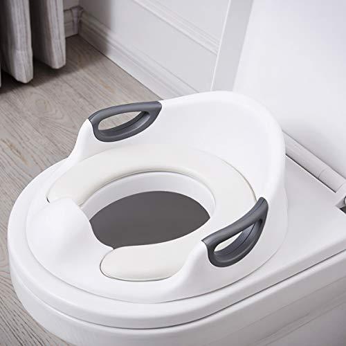Aerobath Kinder WC Sitz, Töpfchen Training Sitze für Jungen und Mädchen, passt auf runde und ovalen Toiletten, Baby Potty Training/Toilettensitz/Trainingssitz/Toilettentrainer (weiß)